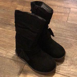 Toddler girls black boots